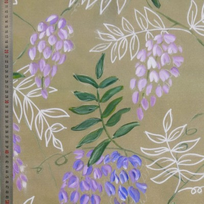 tissu tapissier coton Glycine