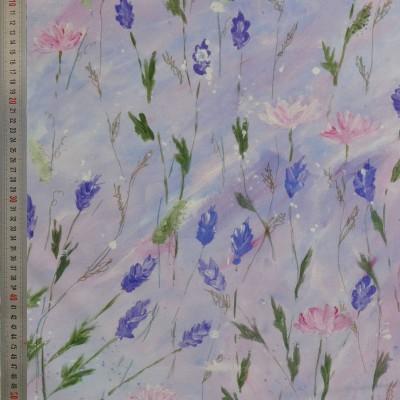 tissu tapissier coton Lavande
