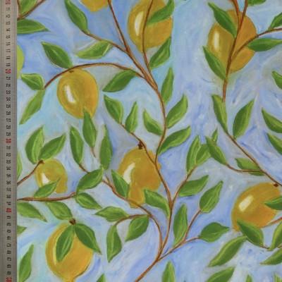 tissu tapissier coton Citronnade