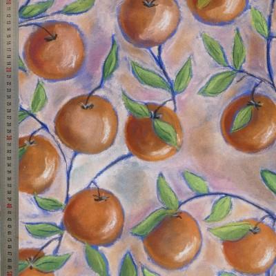 tissu tapissier coton Orangeade