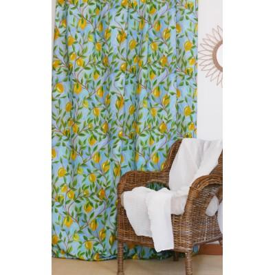 rideau tissu tapissier coton Citronnade