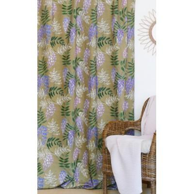 rideau tissu tapissier coton Glycine