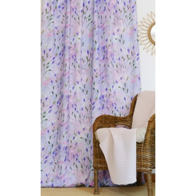 rideau tissu tapissier coton Lavande