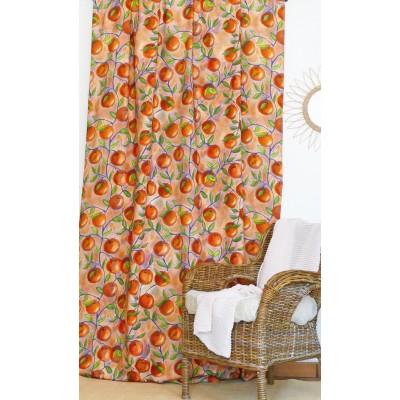 rideau tissu tapissier coton Orangeade