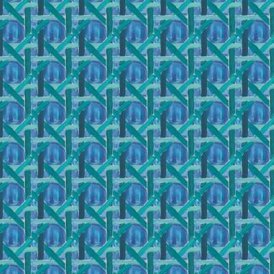 Tissu Cannage Bleu